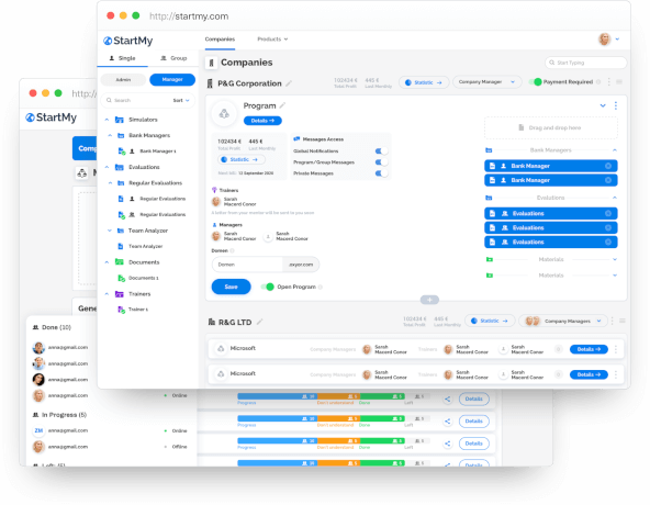 StartMy.Portal: a management tool for in-service staff training